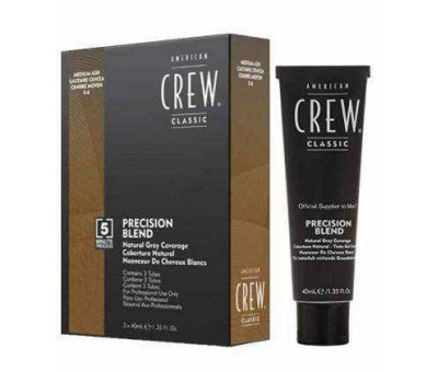 American Crew Precision Blend Medium Ash (5-6) 3x40 ml