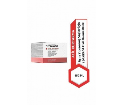 Vasso S.O.S Treatment Restorative Cream Yıpranmış Saç Maskesi 150ml 8699216349137