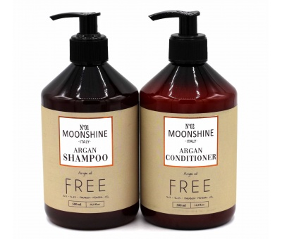 Moonshine Argan Shampoo 500ml & Conditioner 500ml 2'li Set 8680348119972