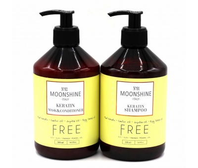 Moonshine Keratin Shampoo 500ml& Conditioner 500ml 2'li Set 8680348119941